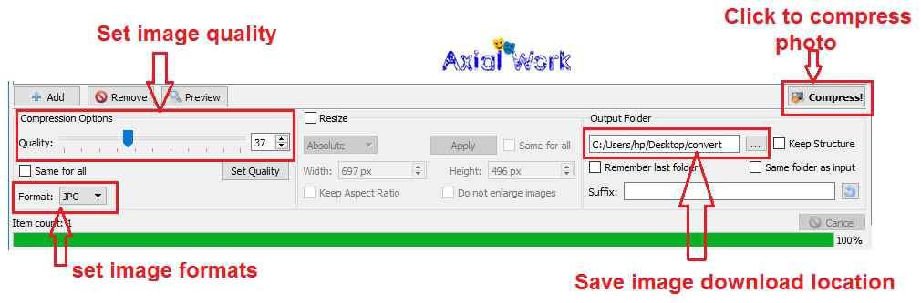 Caesium image compressor software me photo compress kaise kare