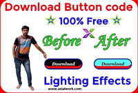 Html download button for lighting effects
