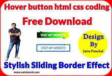 Sliding border hover button html css coding free download