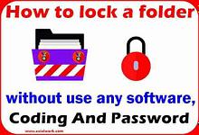 Folder lock for pc | folder ko lock kaise kare in hindi