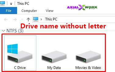 How to change computer drive name