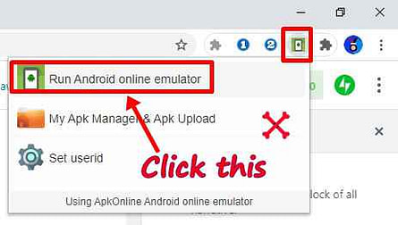 Online android emulator extension ko use kaise kare