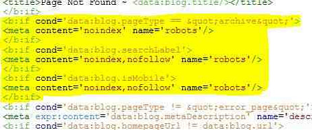 How to remove noindex meta tag error