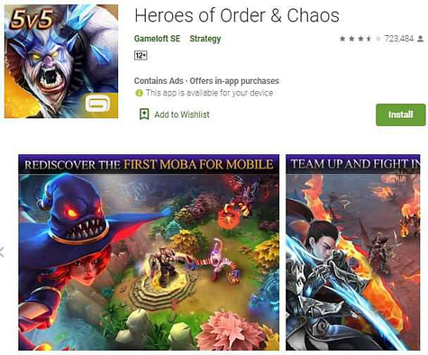 Heroes of order & chaos– moba games