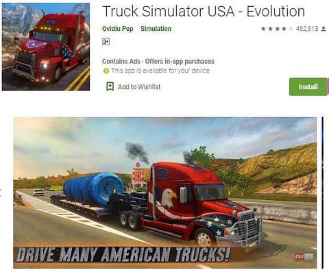 Truck Simulator USA (tarak wala game)
