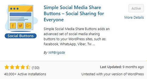 Simple Social Buttons