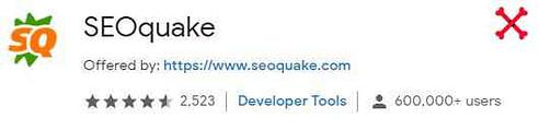 SEO Quake best google chrome extension