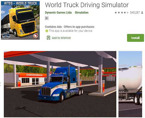 World truck driving simulator(truck wali game)