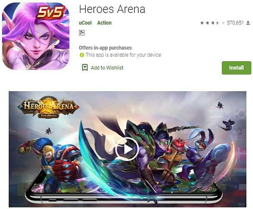 Heroes Arena – best alternative mobile legends