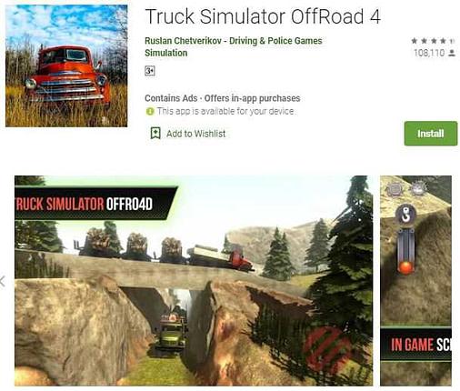Truck simulator offroad 4 truck ka game