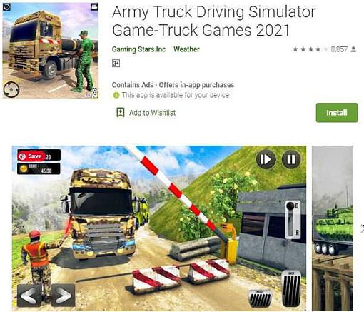 Army truck driving simulator (truck wali game)