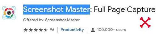 Screenshot Master best google chrome extension