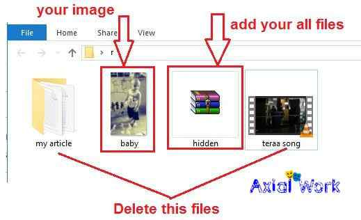 Image me file, folder and video kaise hide kare
