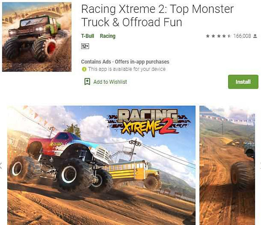 Racing Xtreme 2(Monster truck game download)