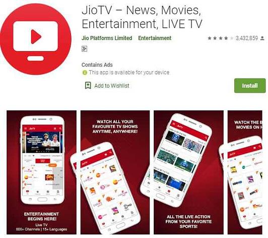 Jio tv thop tv alternative app