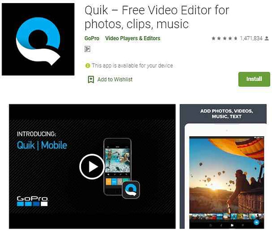 Quik - Free best whatsapp status video app