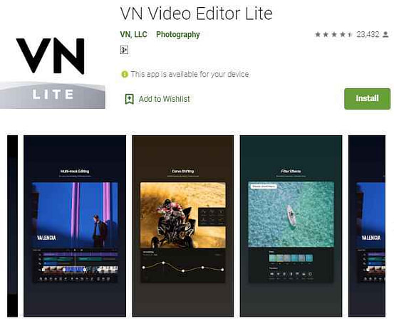 VN video editor lite best video maker app in india