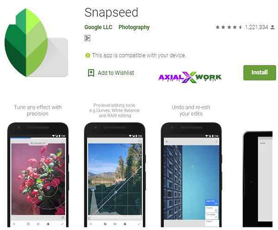 Snapseed best photo editing apps
