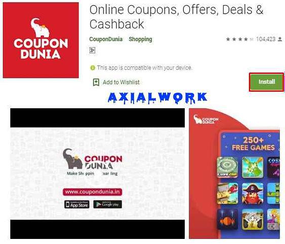 Coupondunia best cash back offer app
