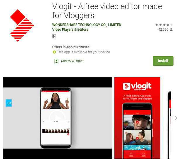 Vlogit video editor without watermark free android app