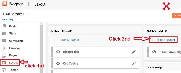 Blogger me YouTube subscribe button kaise lagaye