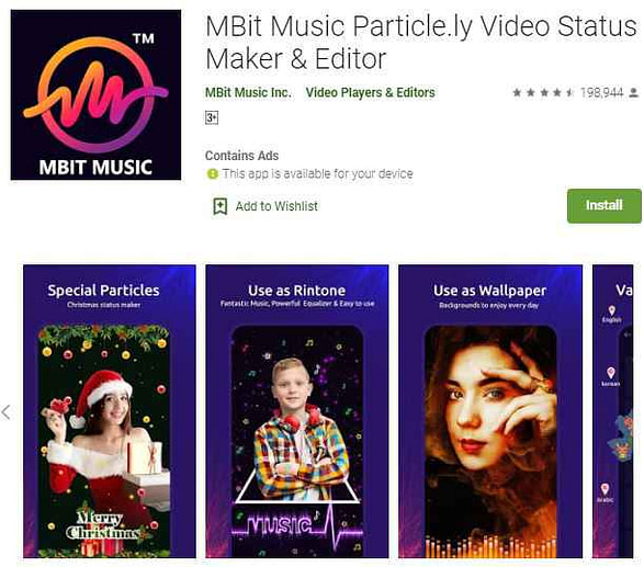 Mbit best whatsapp status video app