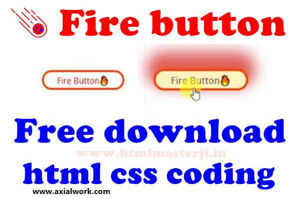 Fire button html css code free download