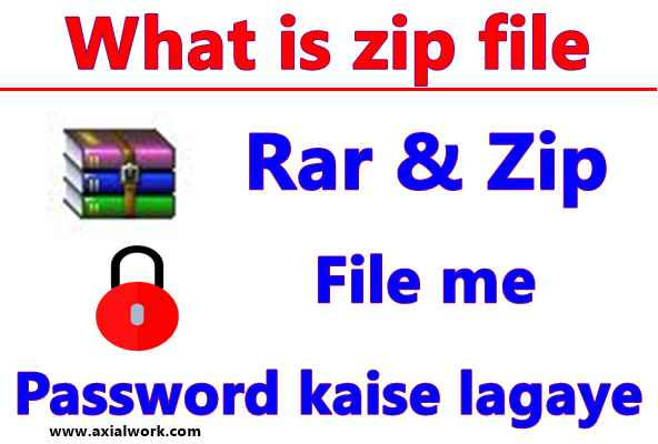 Rar & Zip file me password kaise lagaye what is zip file