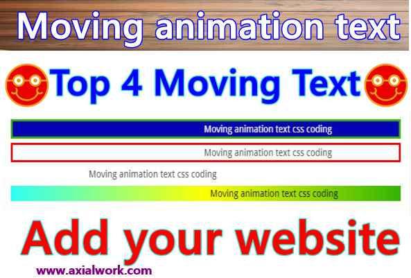 Slider text animation css coding