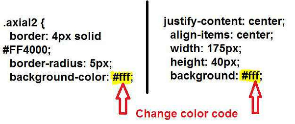 Fire button ka background colour kaise change kare