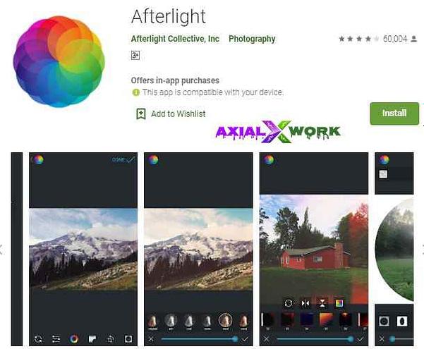 After light photo editer app