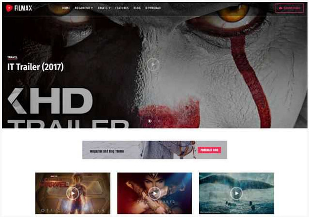 Filmax blogger template