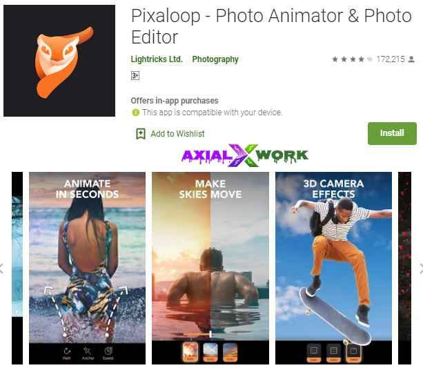 Enlight pixaloop photo editer