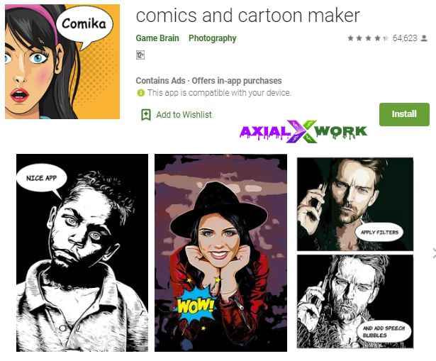 Comics and cartoons maker photo editor app for android