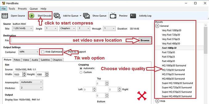 Handbrake best video compressor software