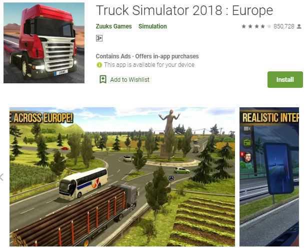 Truck Simulator 18 – truck wali game